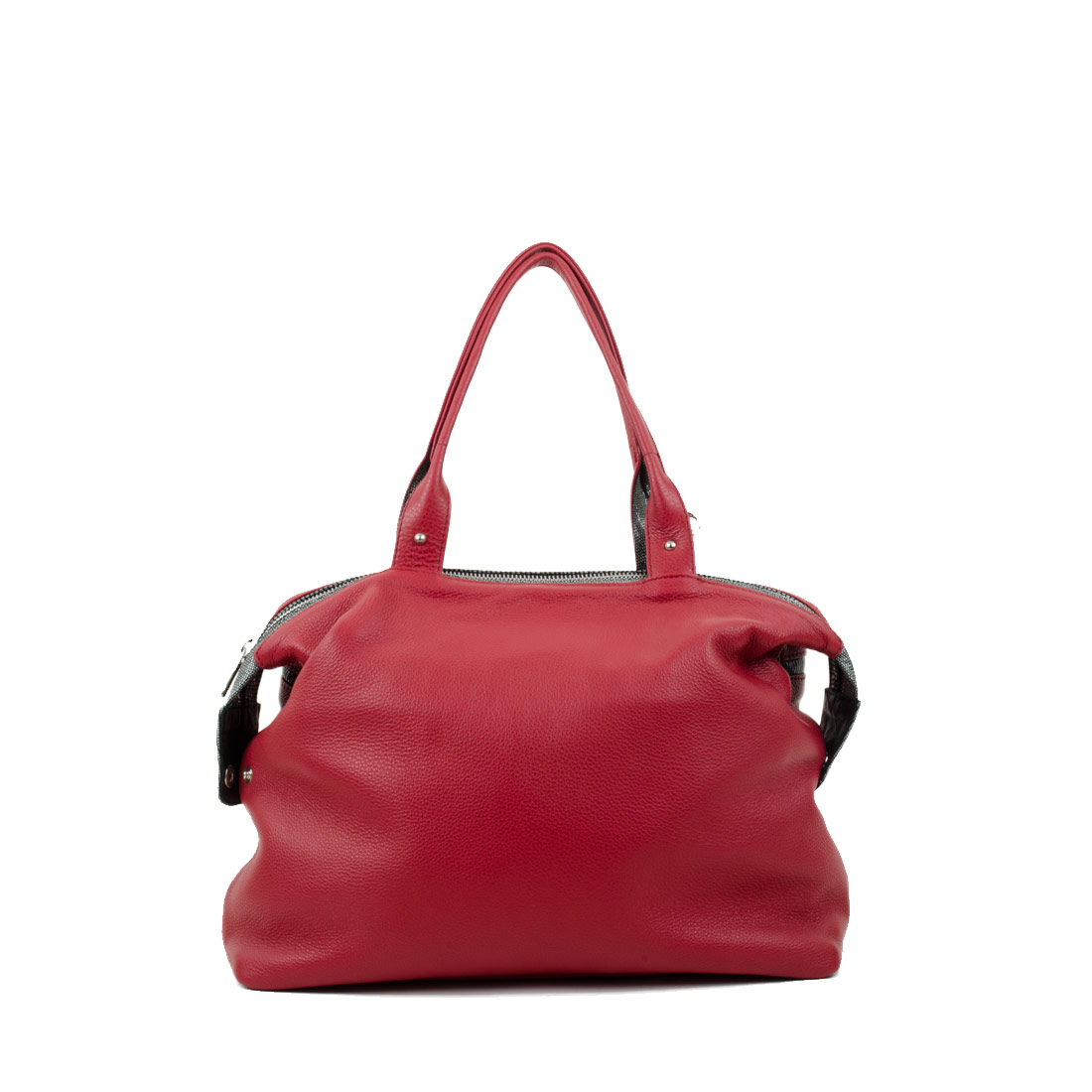 Grace Red Leather Tote Bag