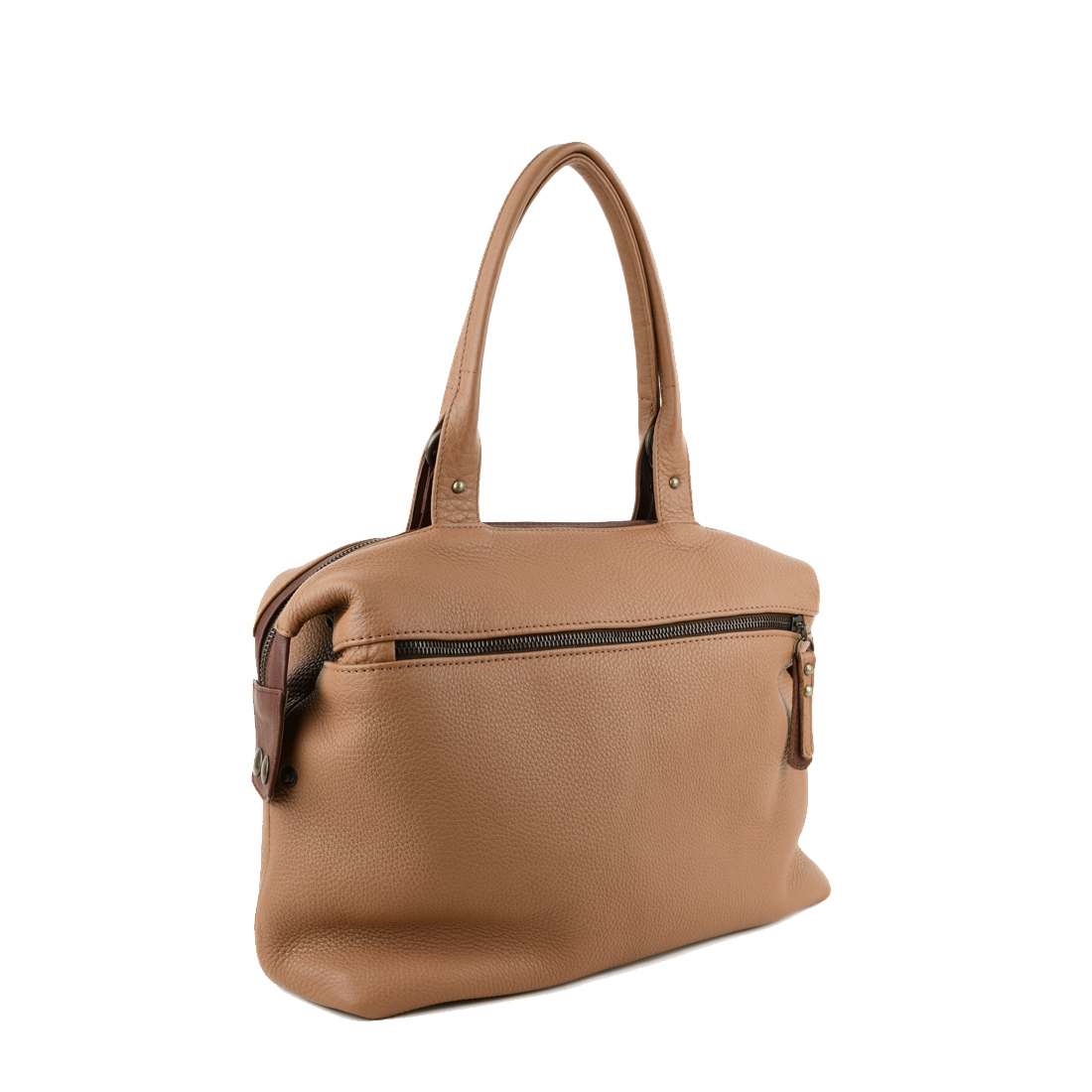 Grace Tan Leather Tote Bag