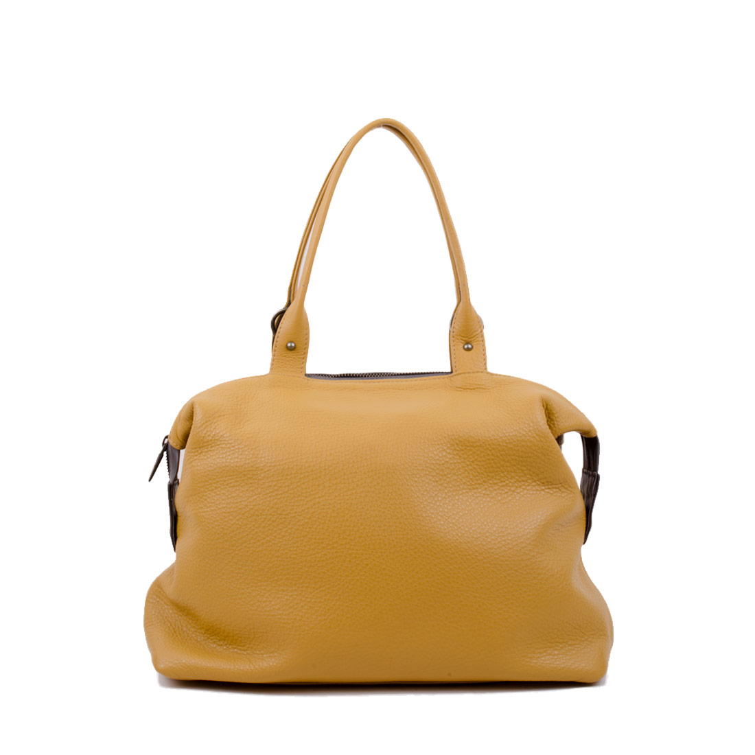 Grace Mustard Leather Tote Bag