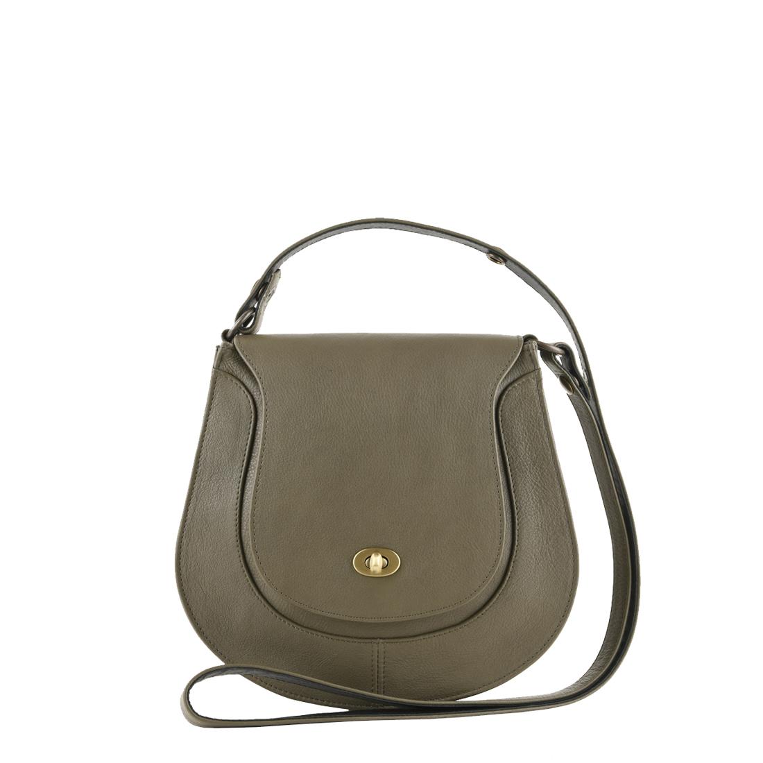 Hattie Olive Leather Shoulder Bag