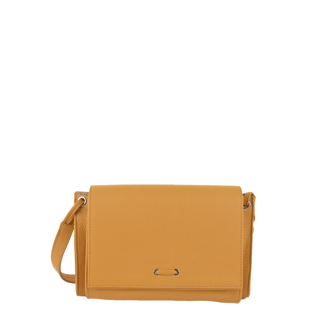 Isobel Yellow Leather Across Body Bag