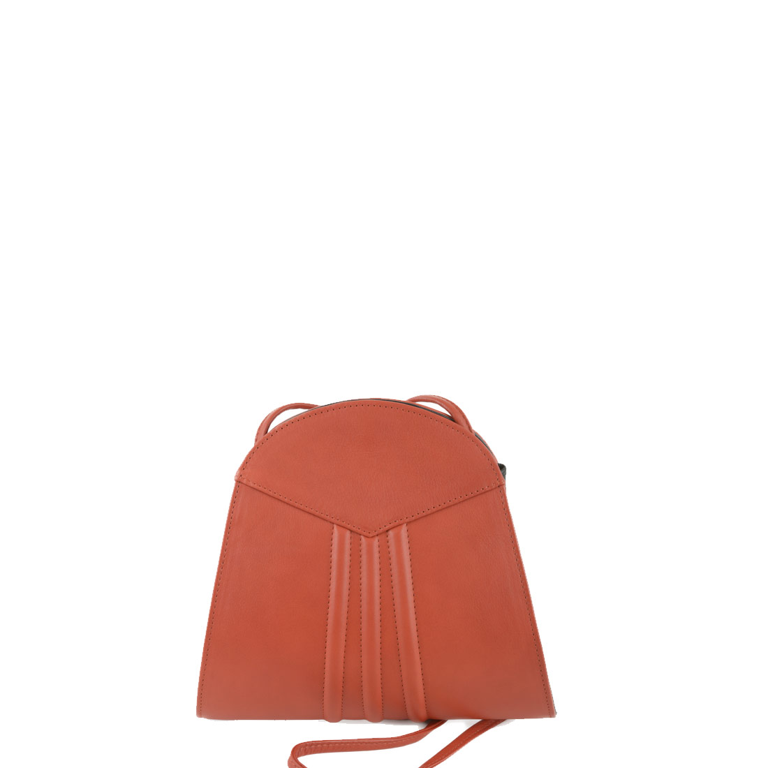Ivy Flash Orange Leather Shoulder Bag