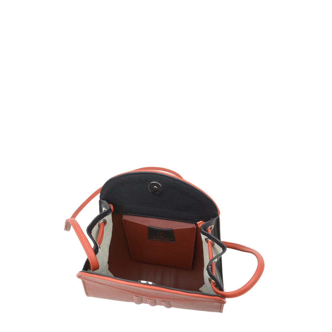 Ivy Flash Orange Leather Shoulder Bag