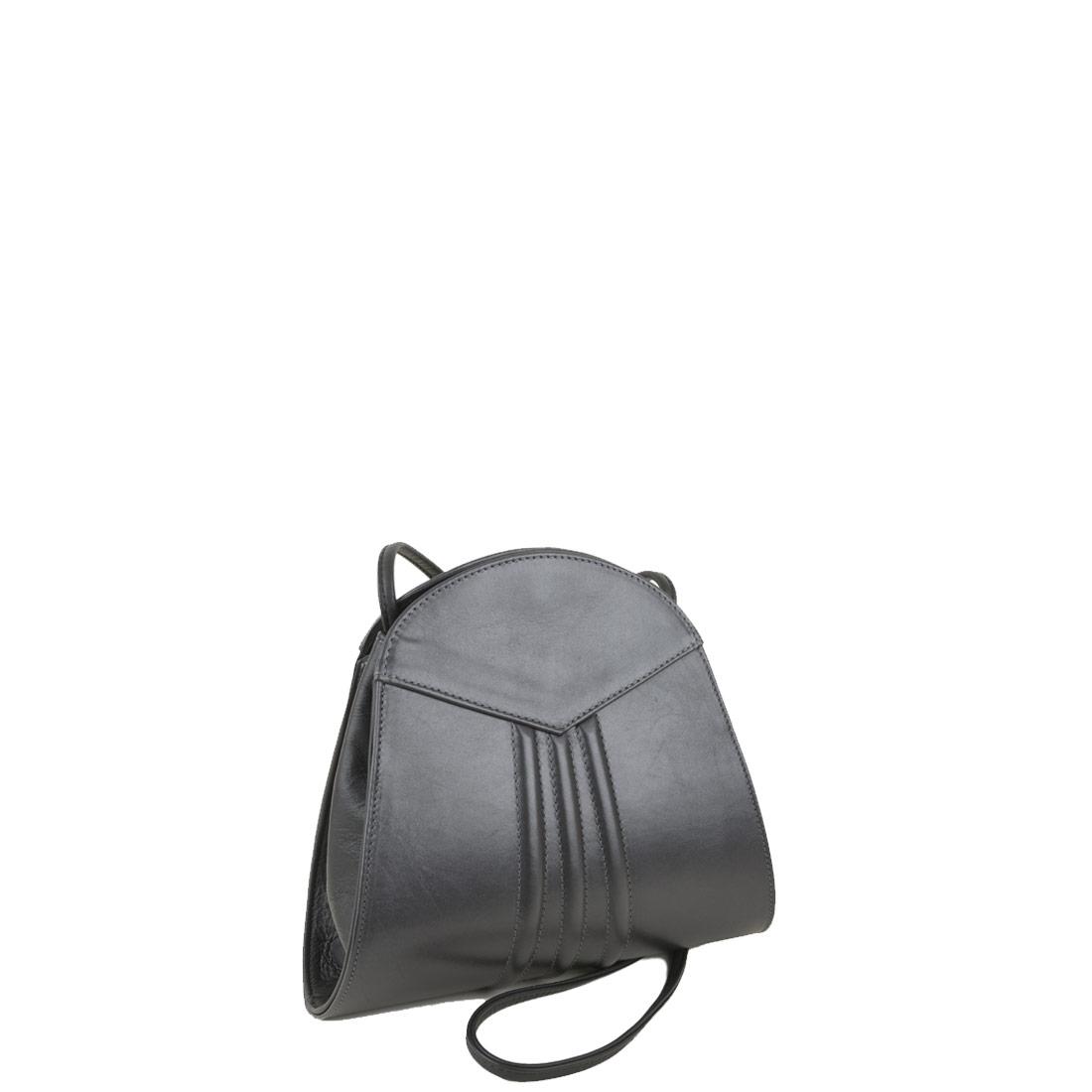 Ivy Pewter Leather Shoulder Bag