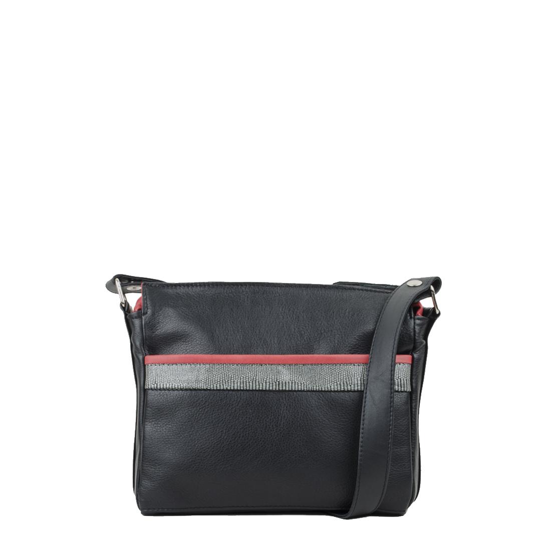 Layla Black Red Across Body Bag