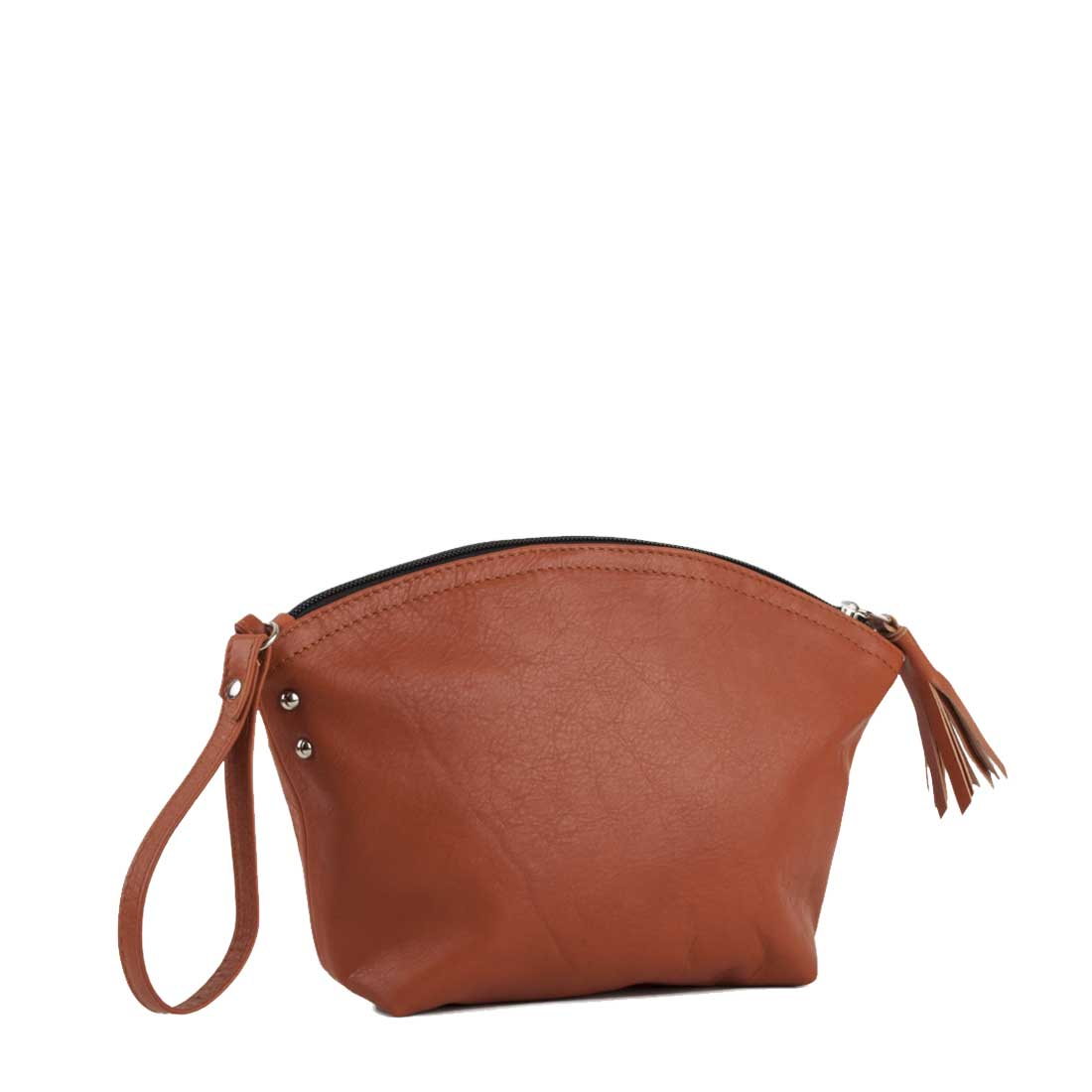 Wrist Bag In Zucca Leather