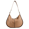 Lizzie Camel Leather Shoulder Bag