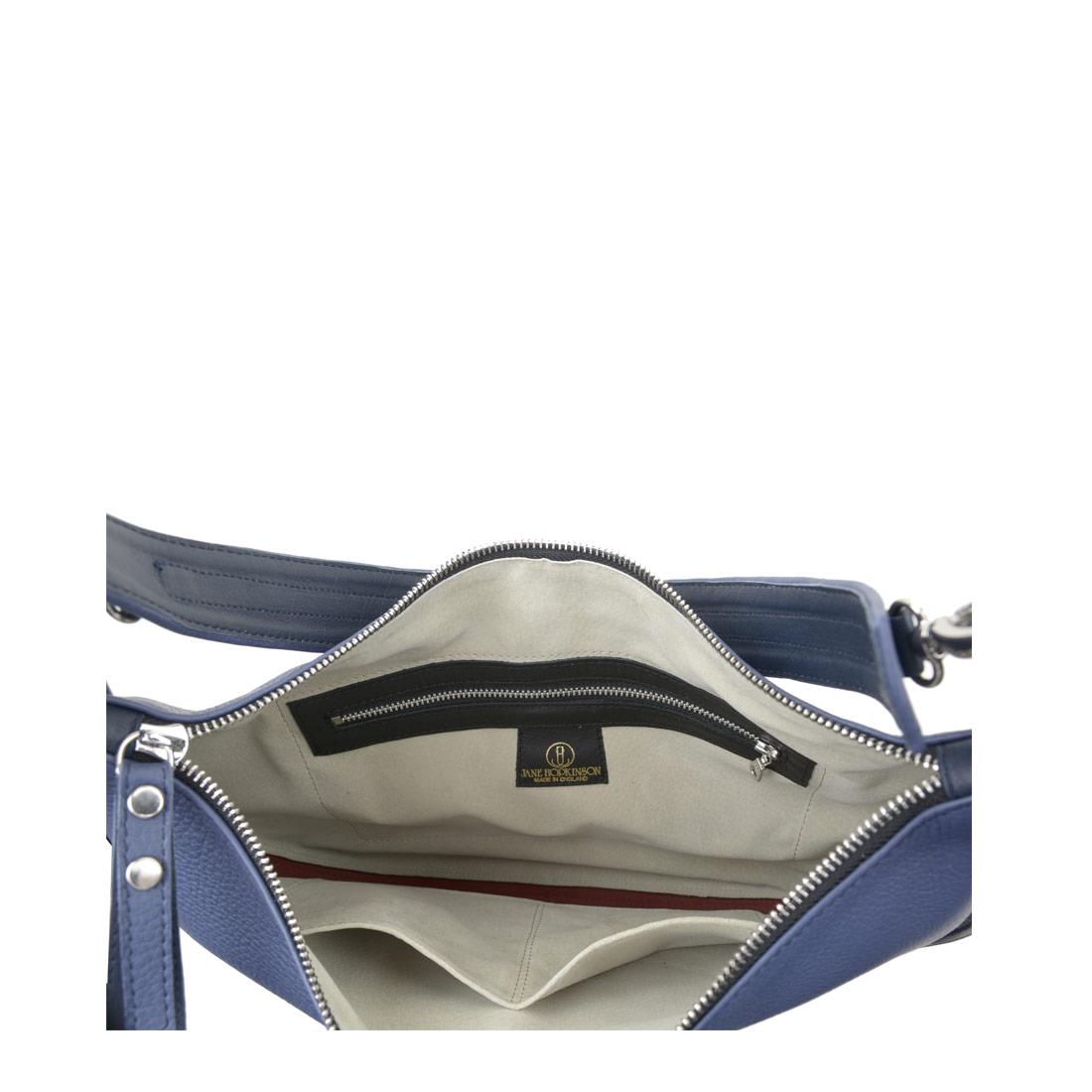 Lizzie Chalk Blue  Leather Shoulder Bag