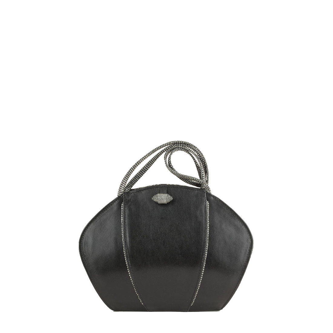 Lola Black Leather Shoulder Bag