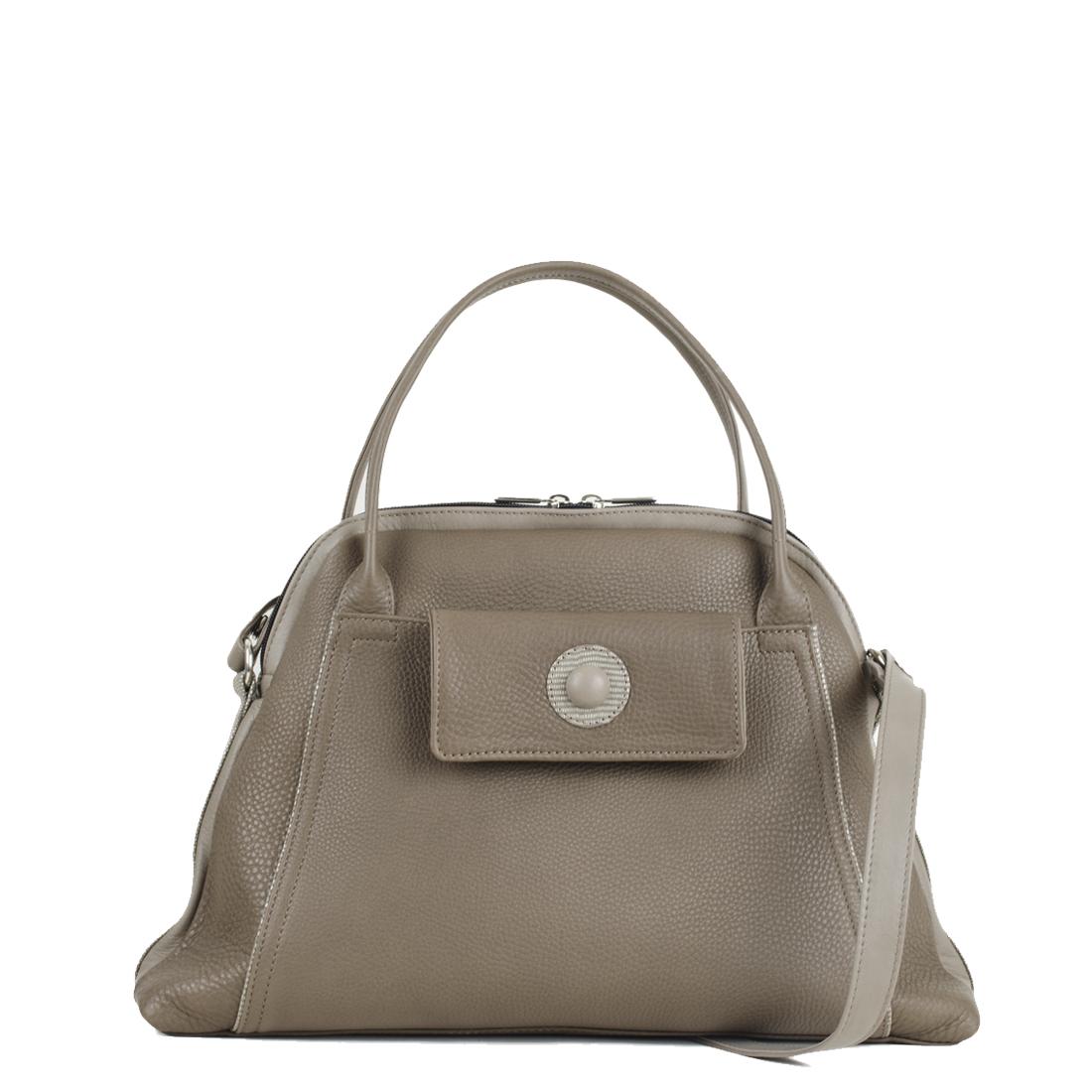 Lottie Taupe Leather Shoulder Bag