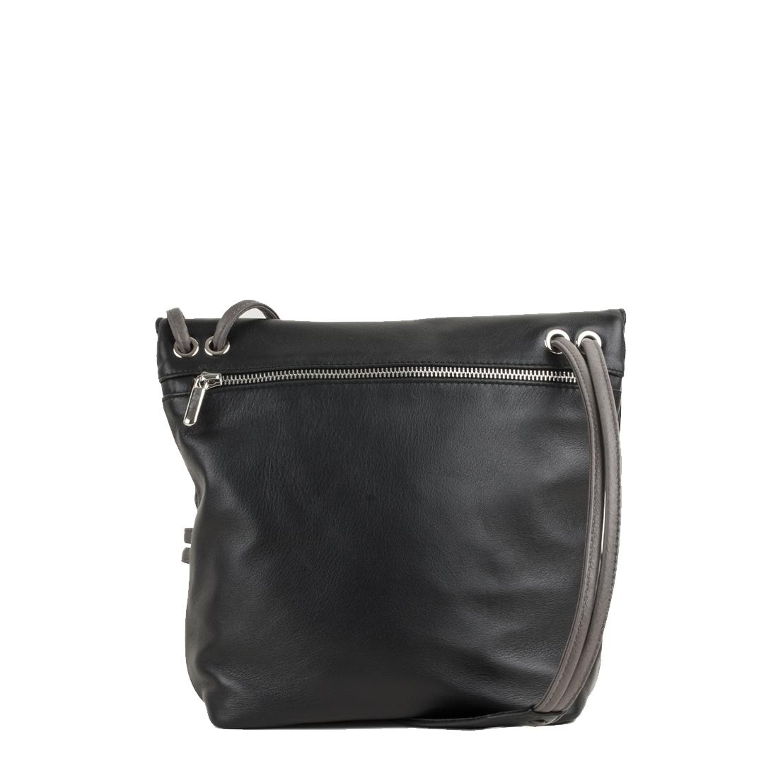 Louise Black Across Body Leather Bag