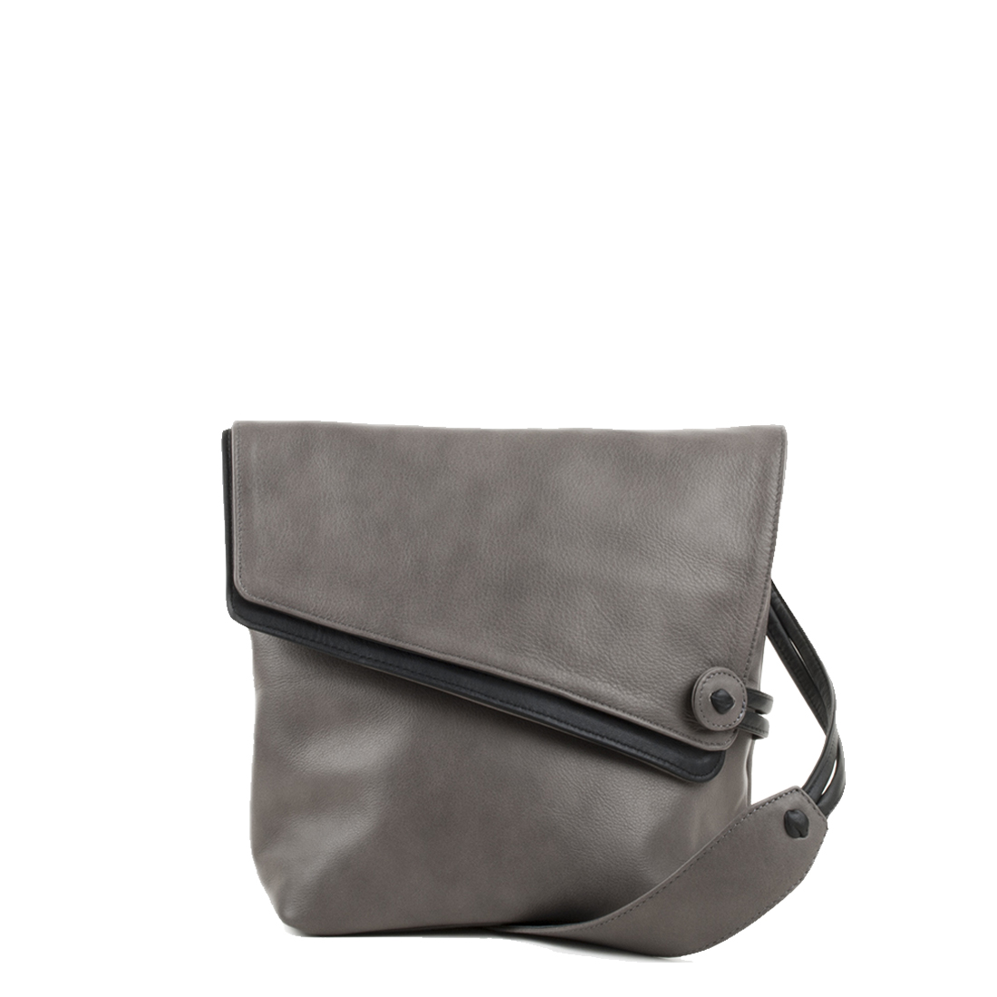 Louise Grigio Across Body Leather Bag