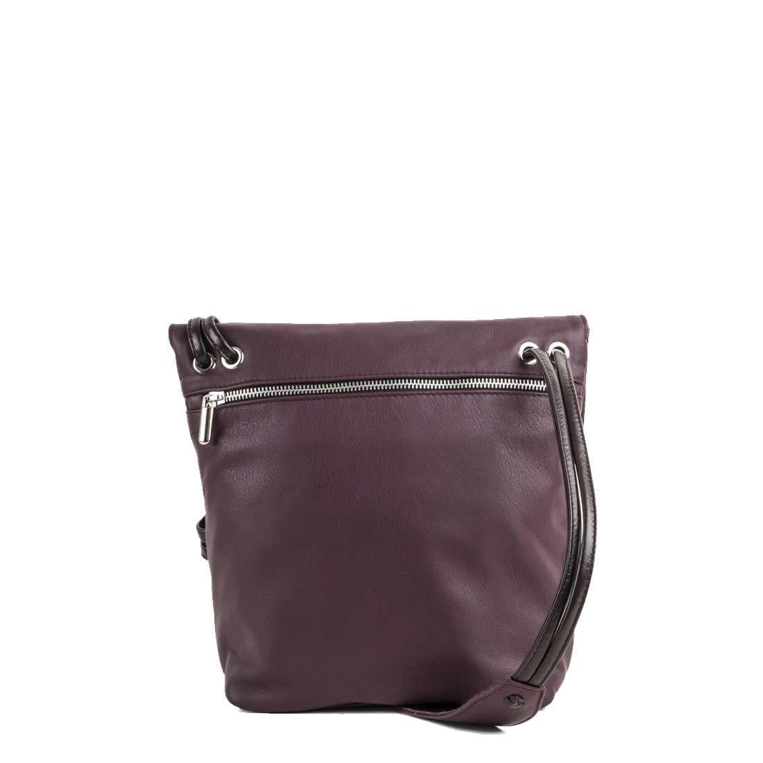 Louise Plum Across Body Leather Bag