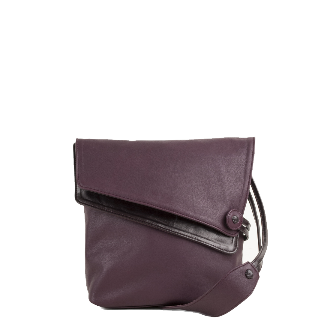 Louise Plum Across Body Leather Bag