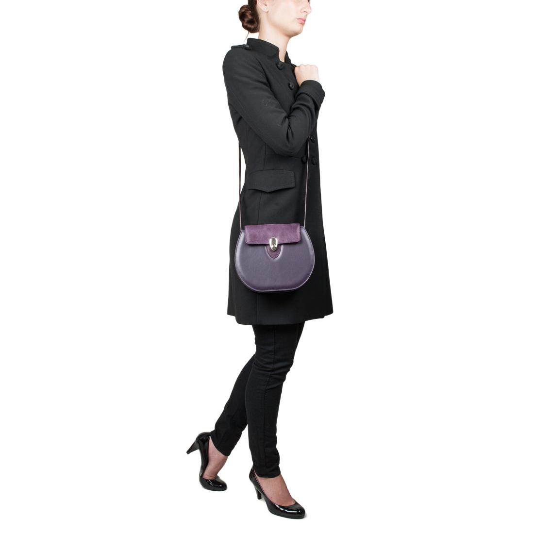 Mae Bianco Leather Shoulder Bag