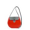 Mae Vivid Orange Leather Shoulder Bag