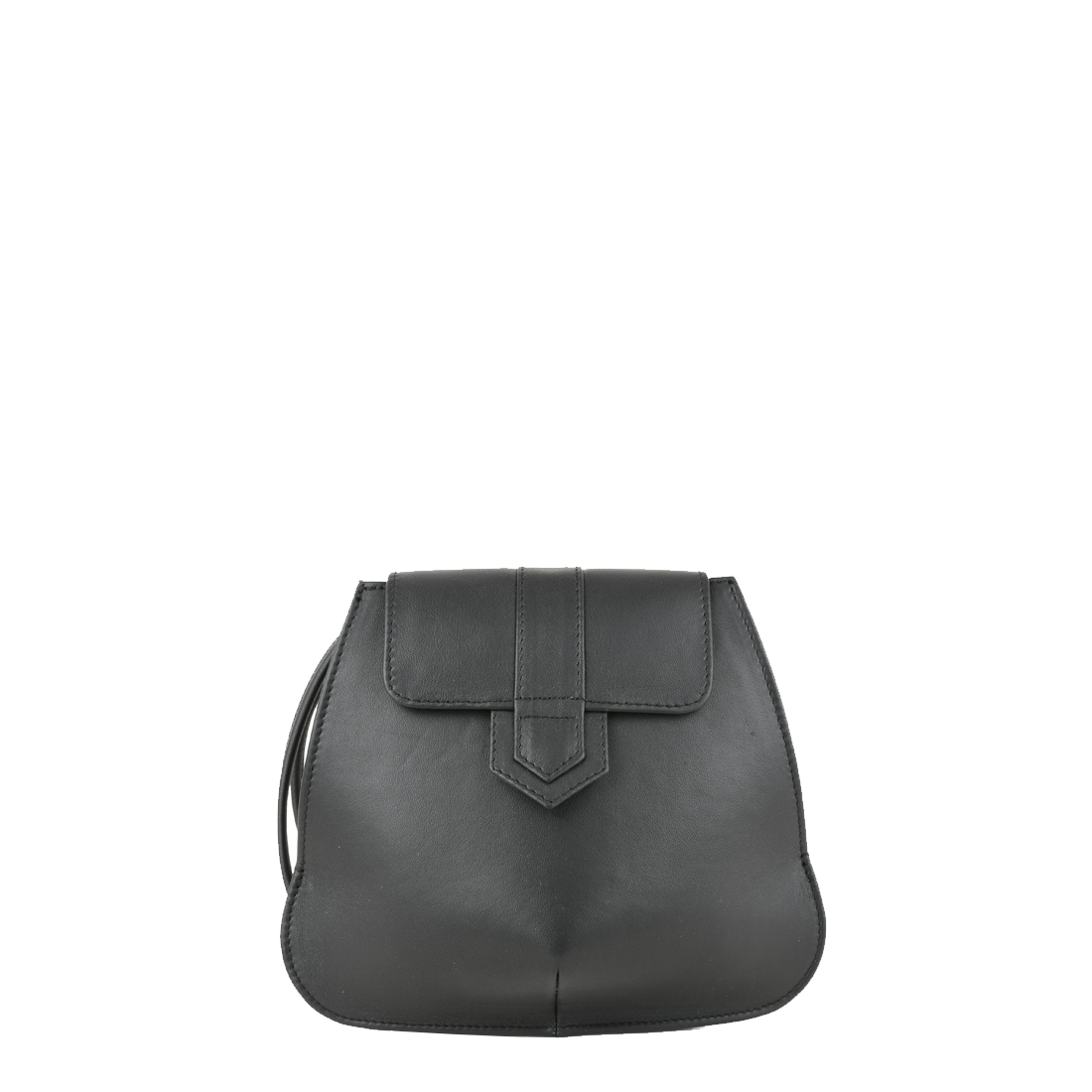 Margot Black Leather Evening Bag