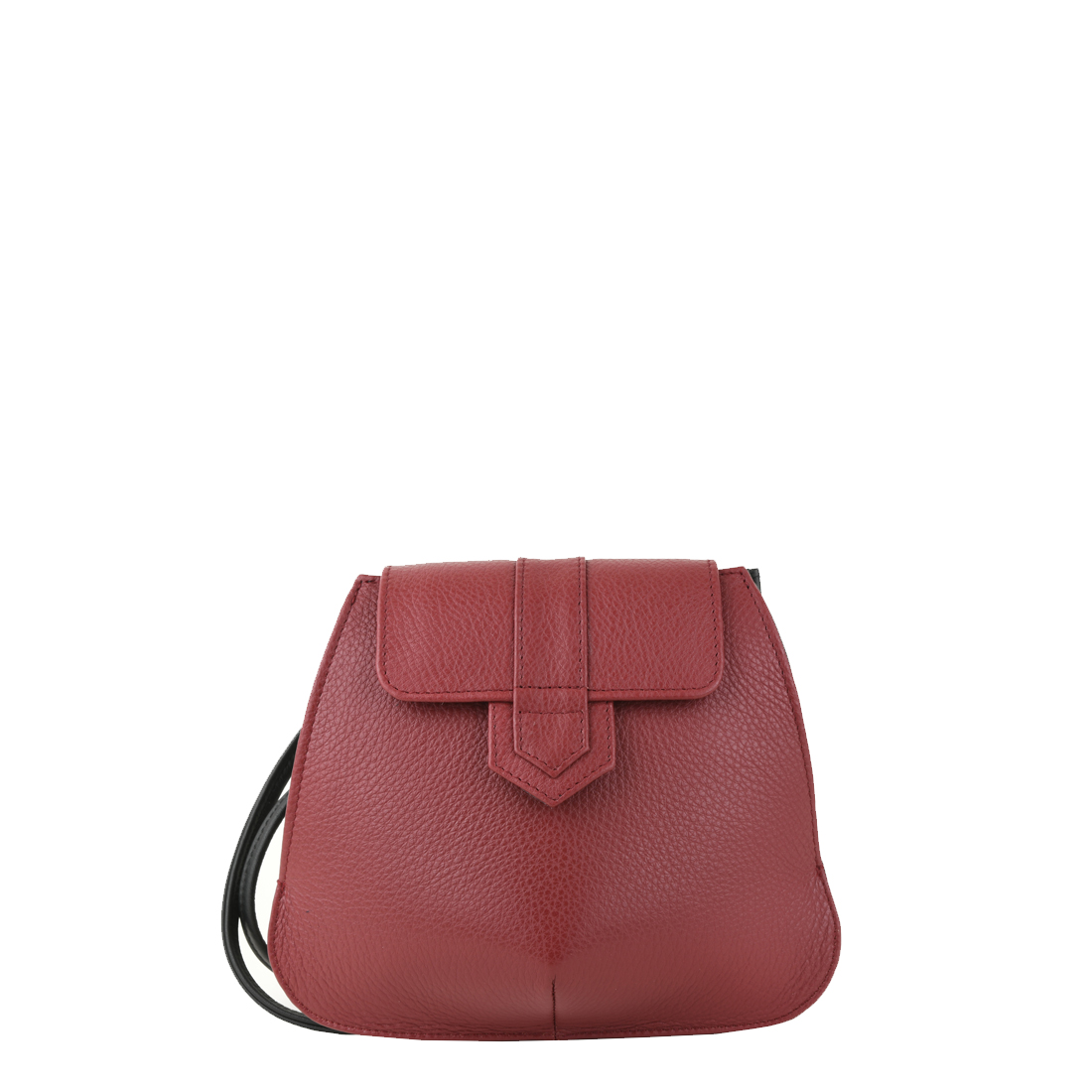 Margot Red Leather Evening Bag