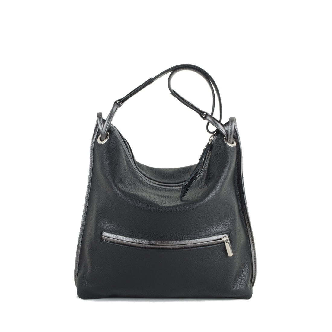 Maria Black Leather Shoulder Bag