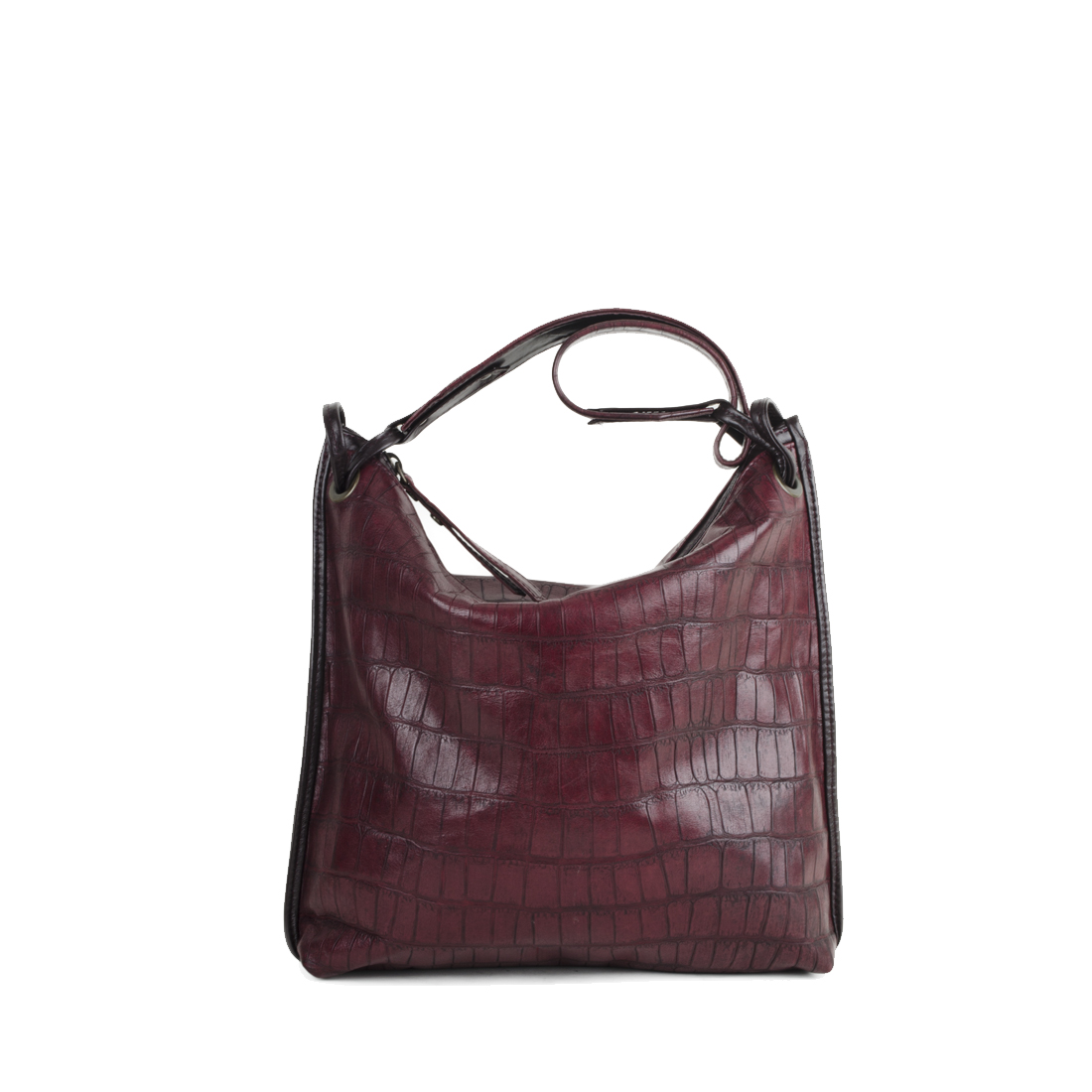 Maria Burgundy Red Leather Shoulder Bag