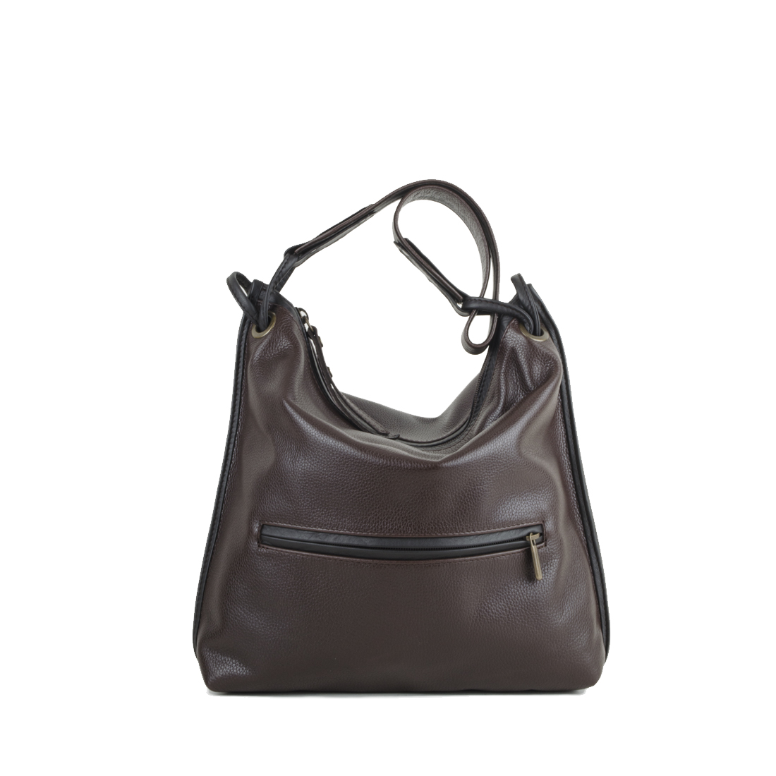 Brown Maria Leather Shoulder Bag
