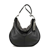 Matilda Black Leather Shoulder Bag