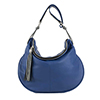 Matilda Blue Leather Shoulder Bag