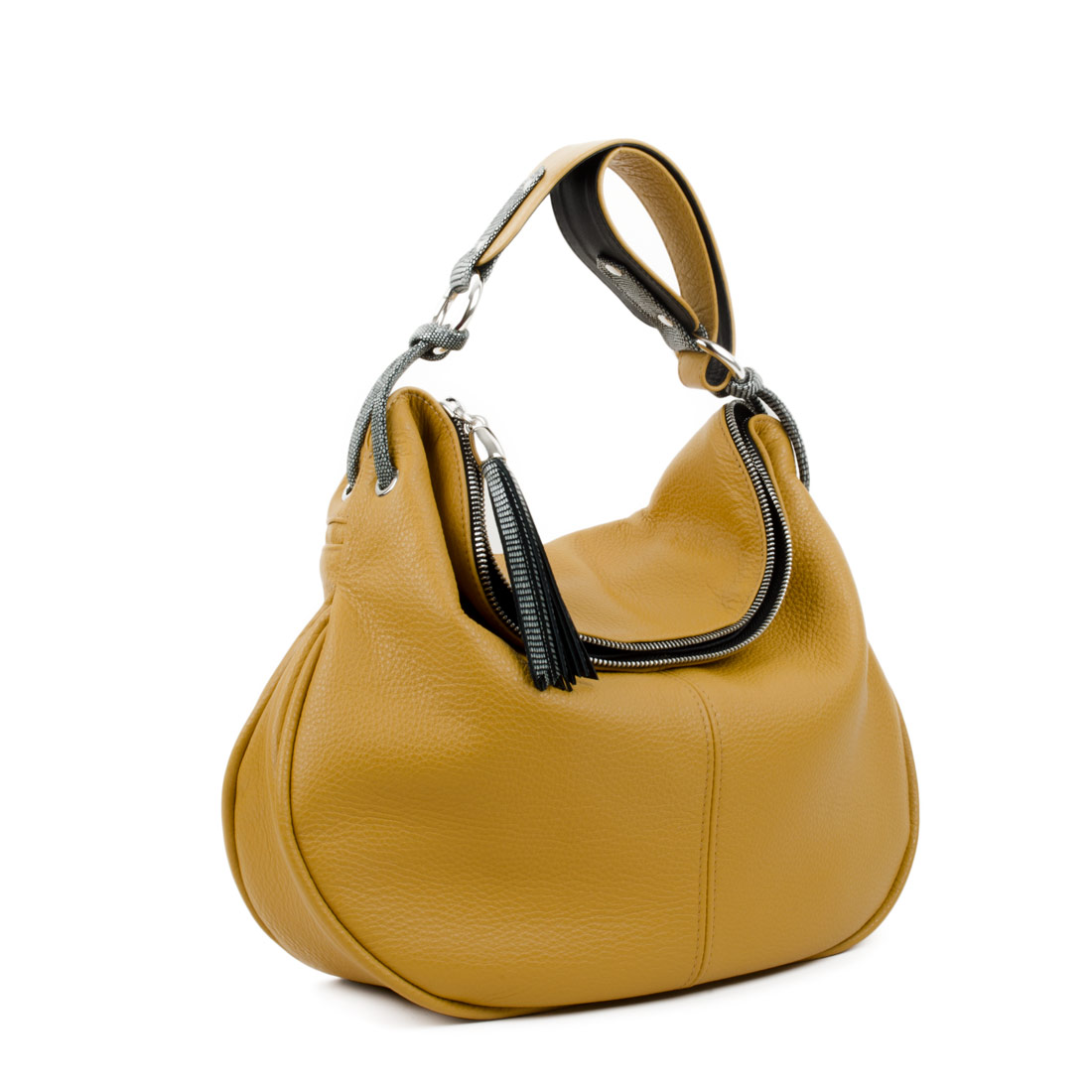 Matilda Mustard Leather Shoulder Bag
