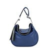 Milly Blue Leather Shoulder Bag