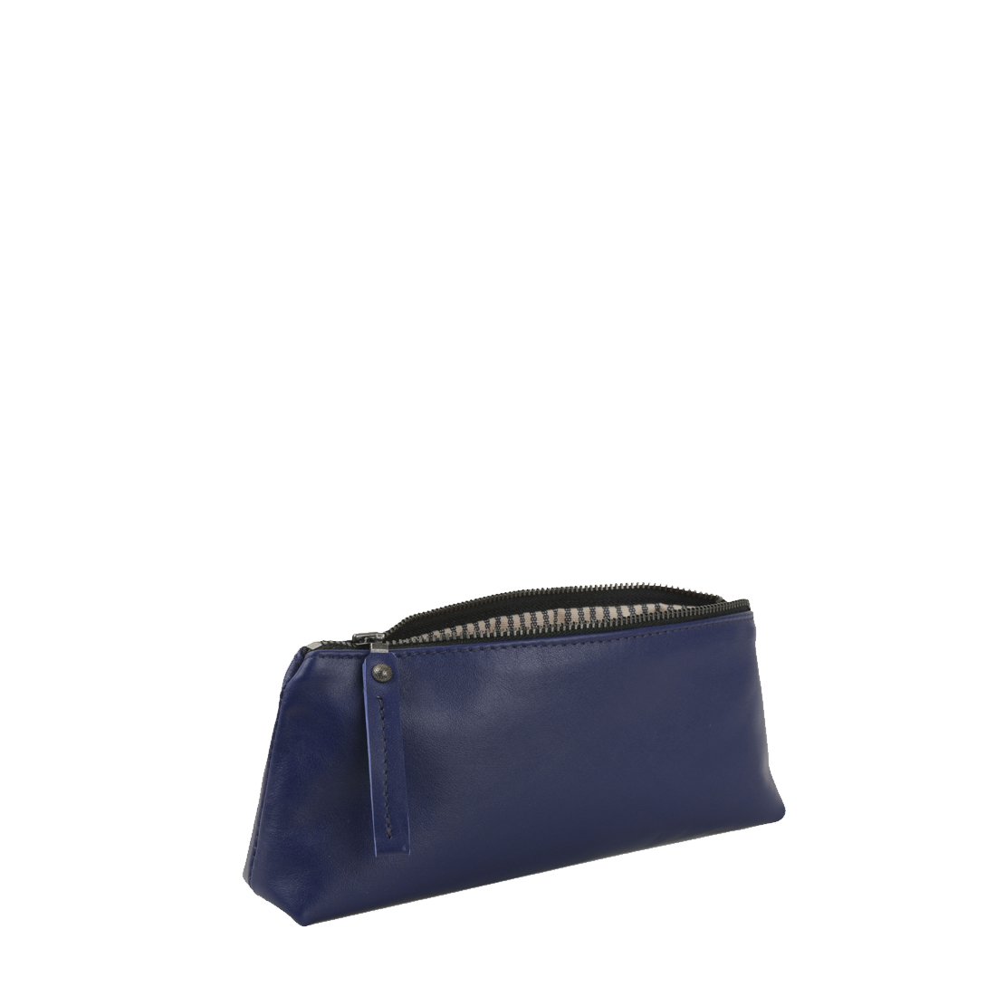 Purple Blue Leather Pencil Case