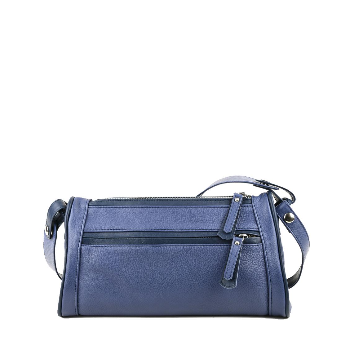 Petra Chalk Blue Leather Shoulder Bag