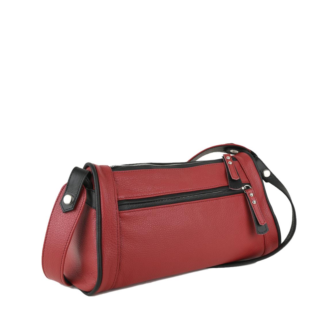 Petra Red Leather Shoulder Bag