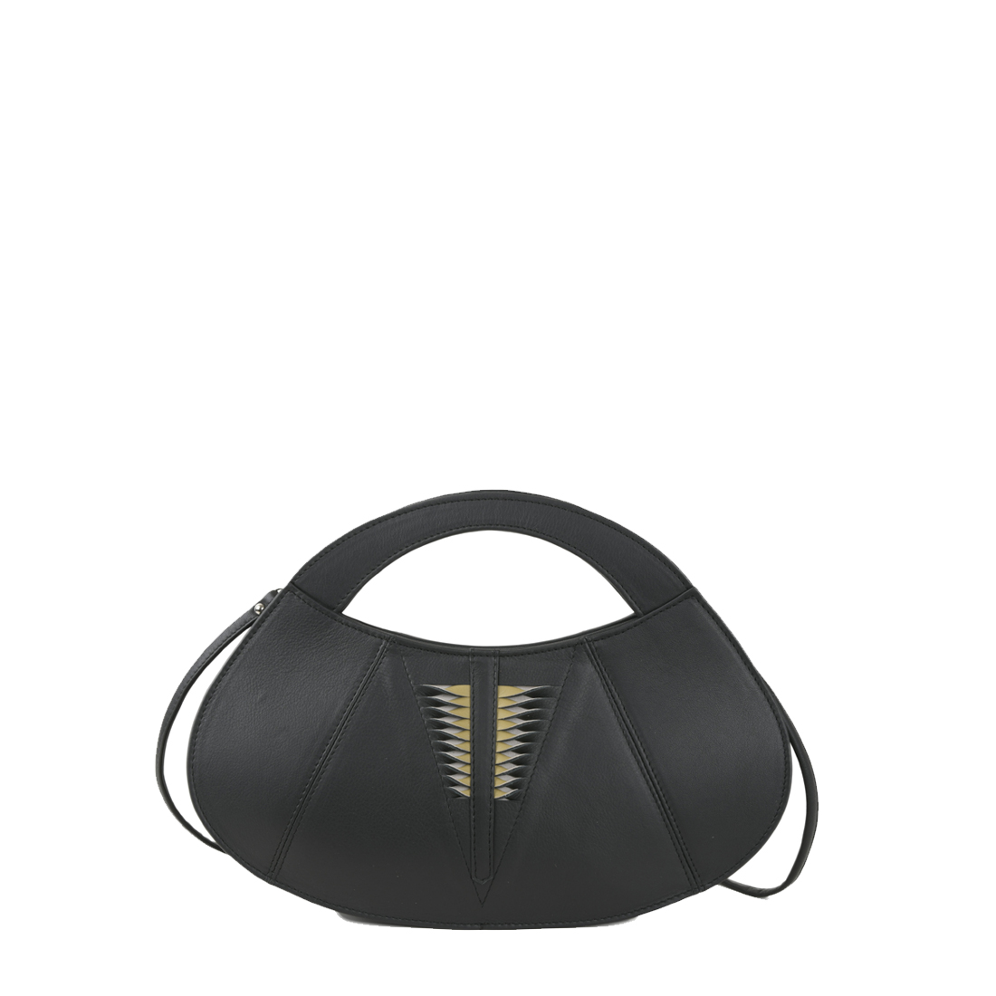 Poppy Black  Leather Evening Bag