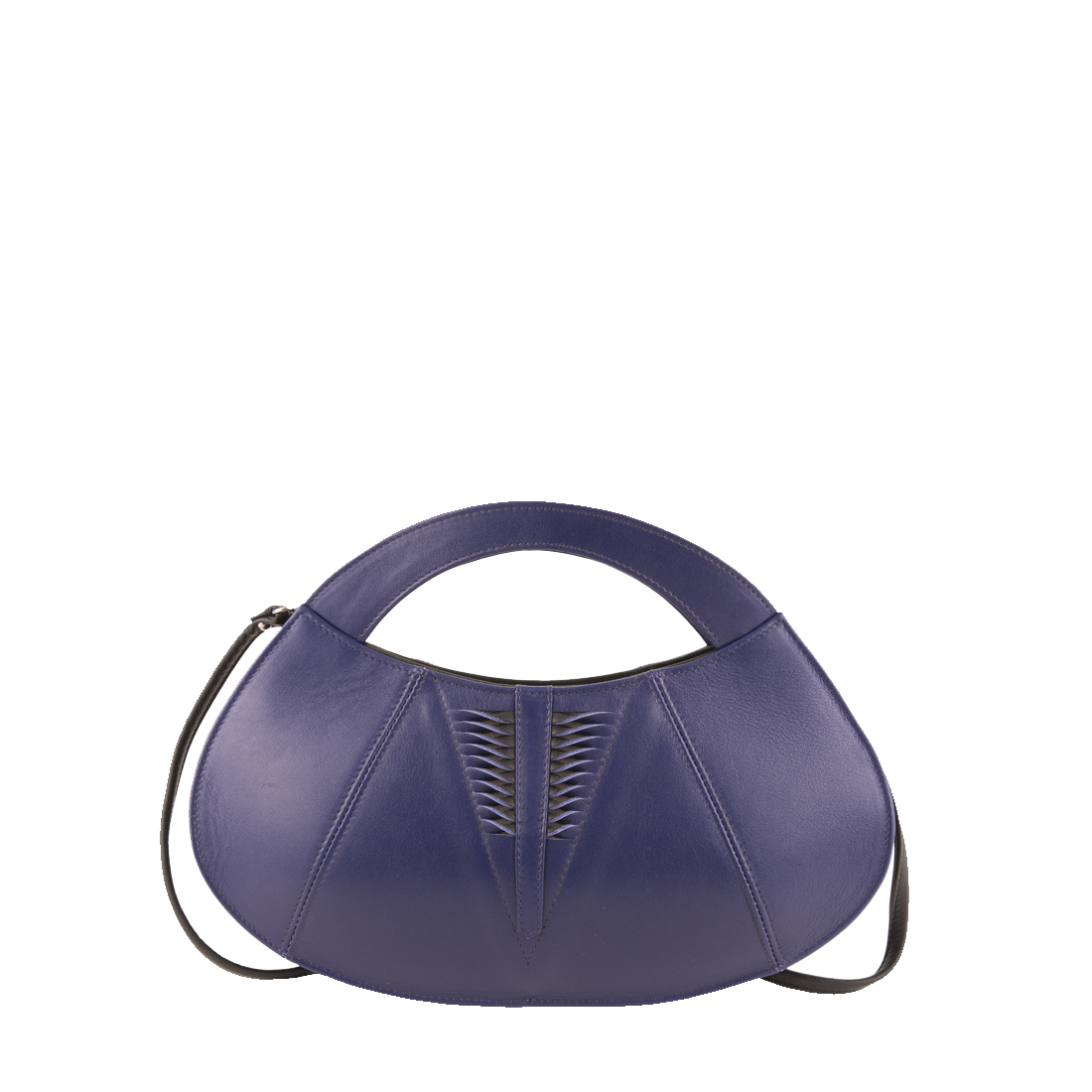 Poppy Purple Blue Leather Evening Bag