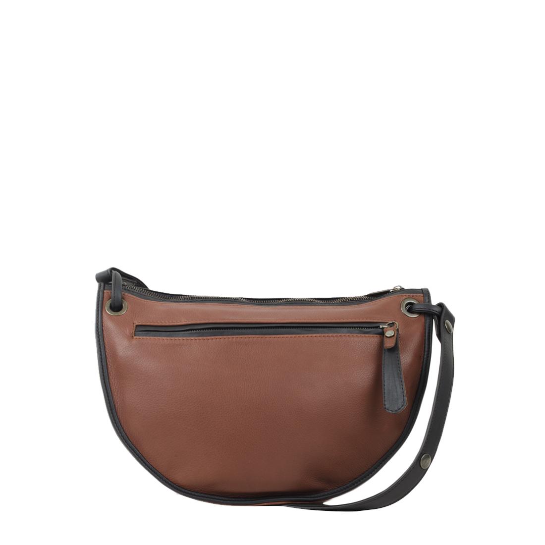 Rachel Tan Leather Across Body Bag
