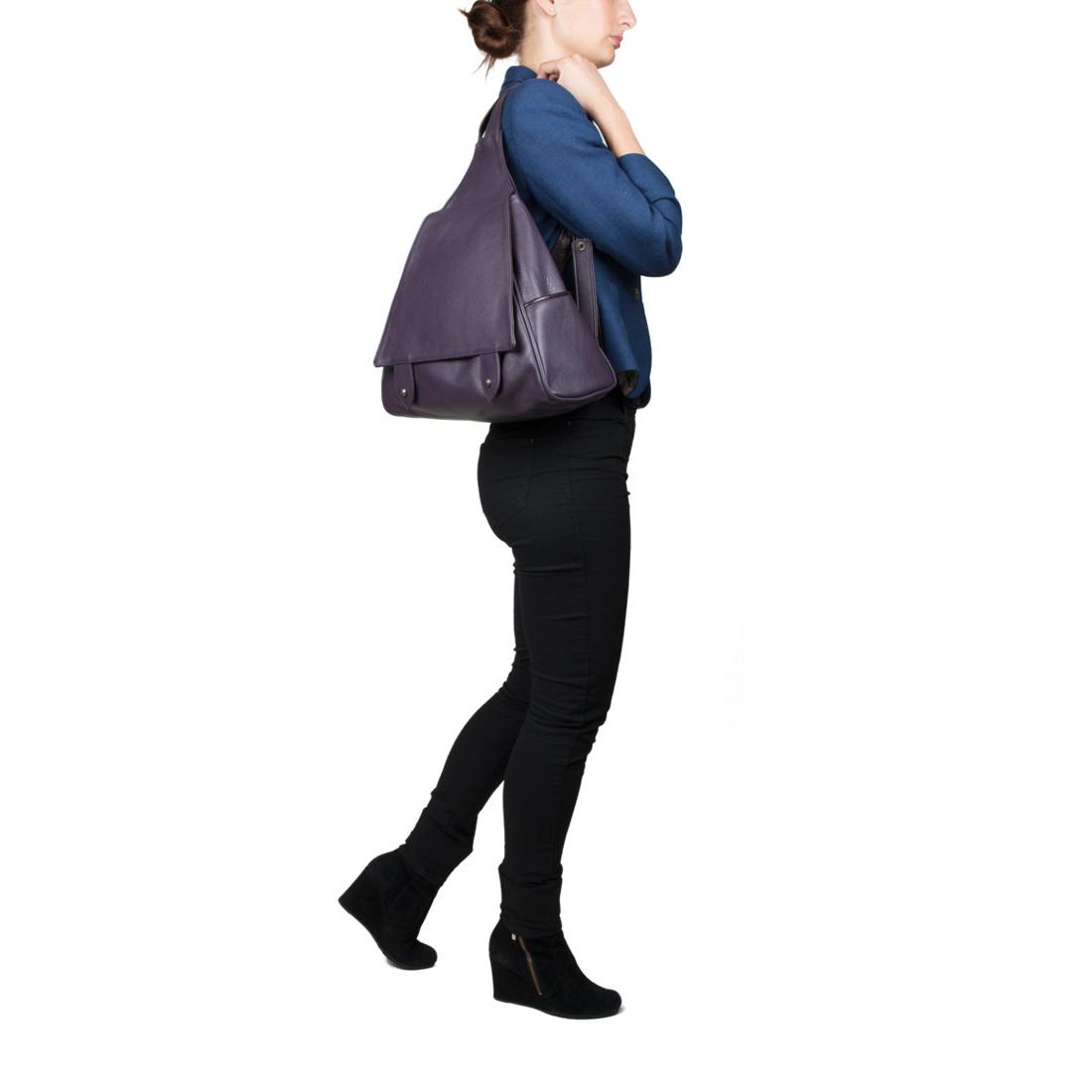 Saddlebag Chalk Blue  Leather Backpack