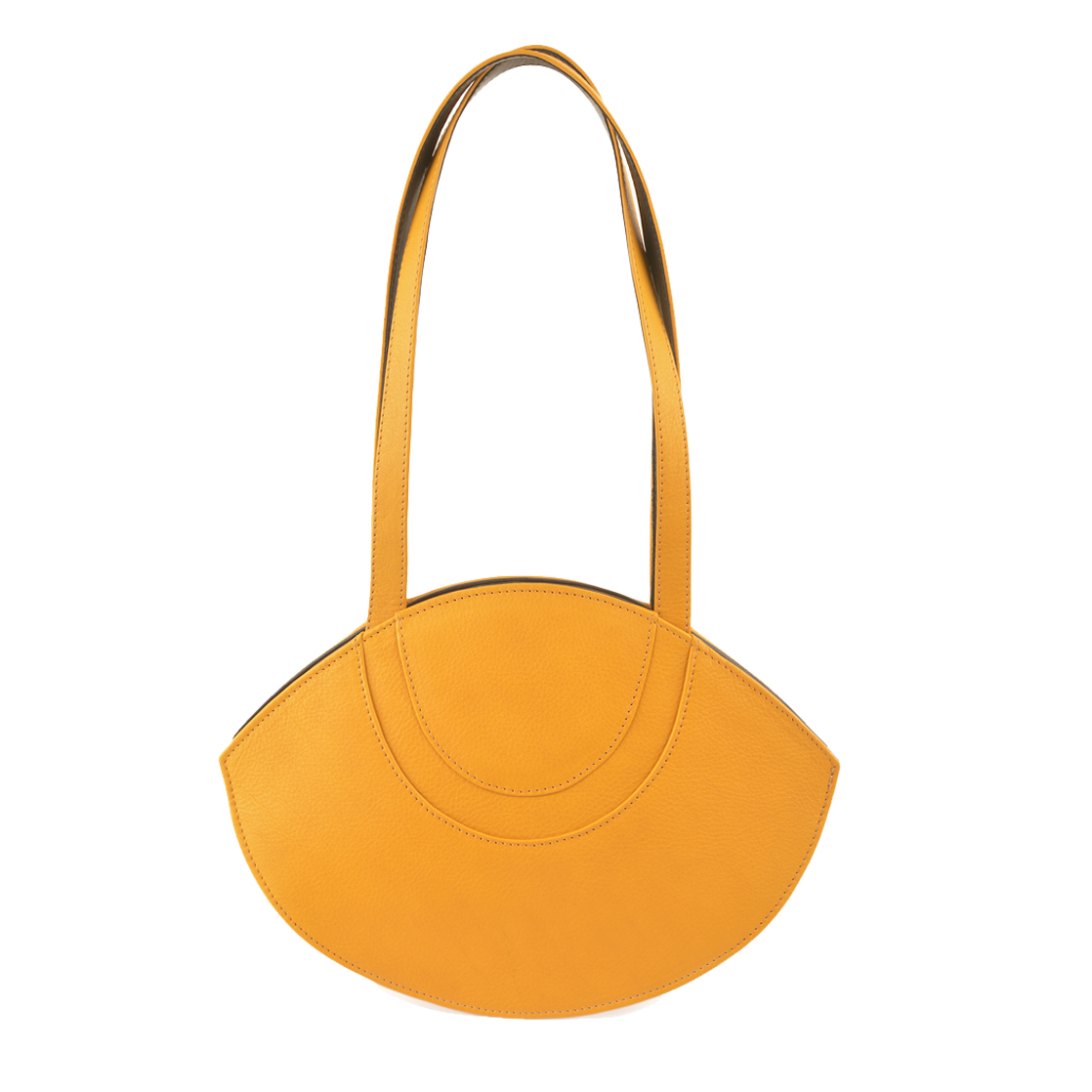 Sasha Yellow Leather Shoulder Bag