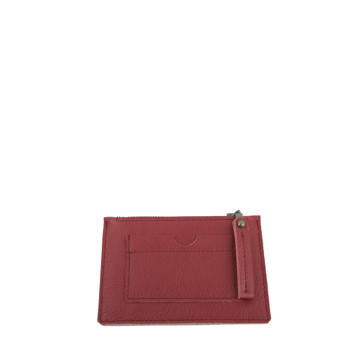 Red Small Leather Credit Card Purse