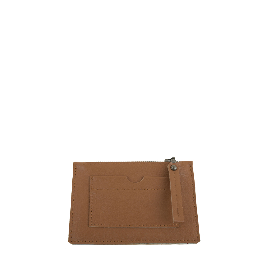 Tan Small Leather Credit Card Purse