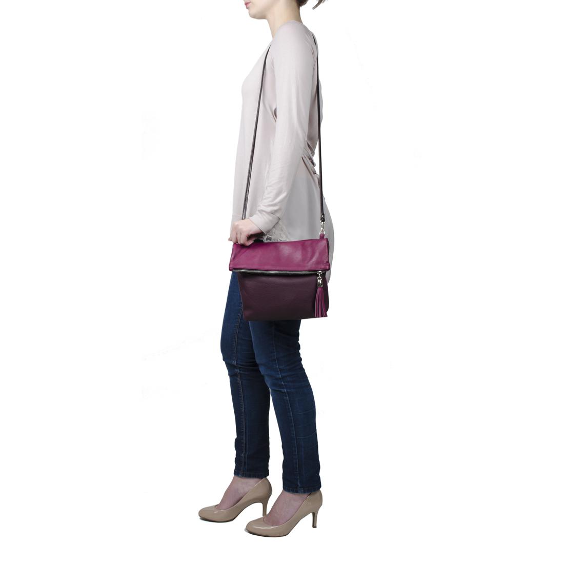 Sofia Blue with Black Across Body Bag