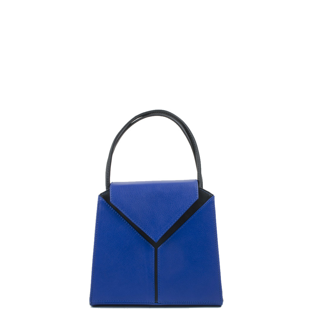 Yasmin Blue Leather Evening Shoulder Bag
