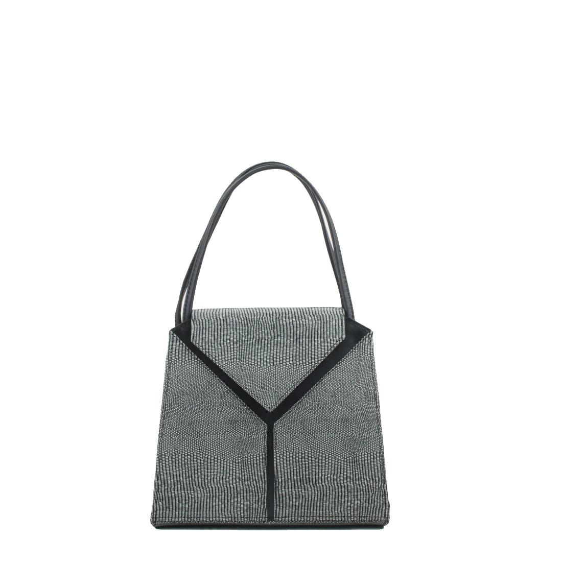Yasmin Courmayeur Leather Evening Shoulder Bag