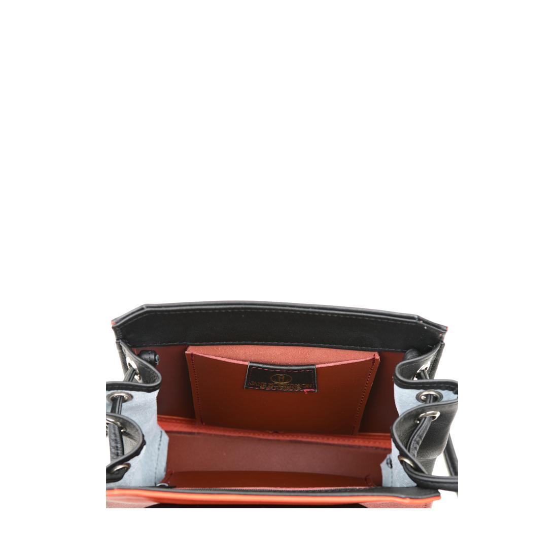 Yasmin Burnt orange Leather Evening Shoulder Bag
